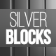 Silver Vertical Blocks Loop Background - VideoHive Item for Sale
