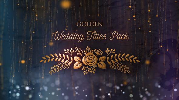 Golden Wedding Titles Pack