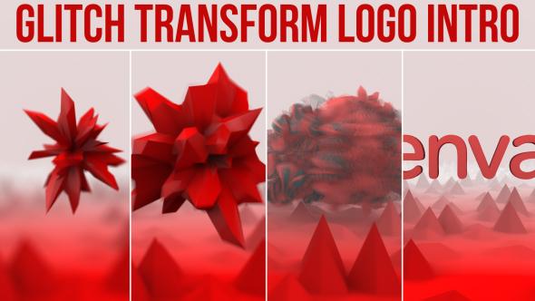 Glitch Transform Logo Intro