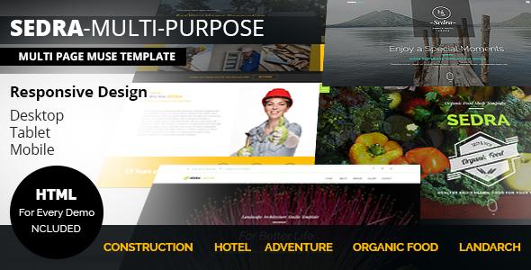 SEDRA Multi-Purpose Responsive Muse Template