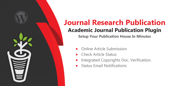 Journal Research Publication Wordpress Plugin