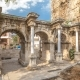 View of Hadrian's Gate in Old City of Antalya  Hyperlapse, Turkey - VideoHive Item for Sale