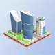 Low Poly Business Center - 3DOcean Item for Sale