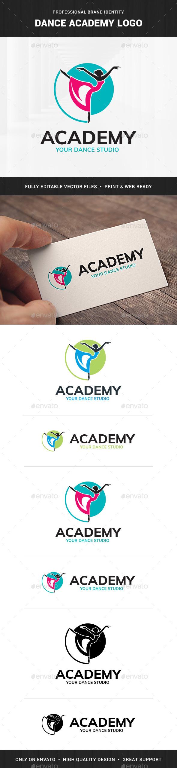Dance Academy Logo Template
