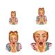 Vector Pop Art Avatar Shouting - GraphicRiver Item for Sale