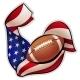 American football emblem - GraphicRiver Item for Sale
