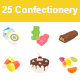Confectionery Color Vector Icons - GraphicRiver Item for Sale