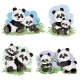 Vector Cartoon Set of Panda Bear Characters - GraphicRiver Item for Sale