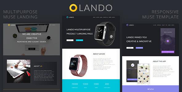 Lando_Multipurpose Muse Landing Page