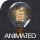 Incandescent Bulb with Lighting up Animation - 3DOcean Item for Sale
