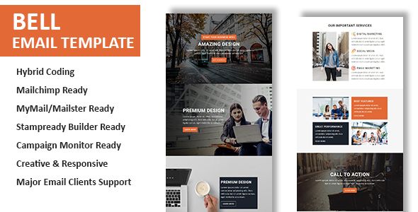 Bell - Multipurpose Responsive Email Template With Online StampReady Builder Access