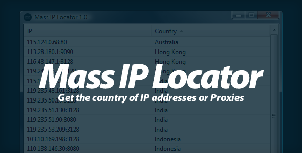 Mass IP Locator - Get the country of IPs !