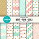 Mint-Pink-Gold Digital Paper Pack - GraphicRiver Item for Sale