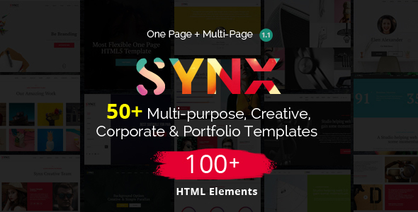 Synx - One Page Parallax
