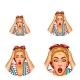 Vector Pop Art Avatar of Shocked Blonde - GraphicRiver Item for Sale