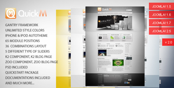 preview quickm.  large preview - QuickM - Template for Joomla 1.5