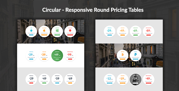 Circular - Responsive Round Pricing Tables Download