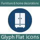 Furniture & home decorations Flat Glyph Icons - GraphicRiver Item for Sale