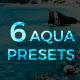 6 Lightroom Presets - Aqua Pack (+Mobile Version) - GraphicRiver Item for Sale