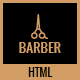 Barber - A Creative Landing Page HTML Template - ThemeForest Item for Sale