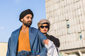 Indian couple posing in an urban context - PhotoDune Item for Sale