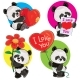 Valentine Day Vector Set with Panda Bears - GraphicRiver Item for Sale