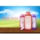 Vector Realistic Banner with Juice Bottles - GraphicRiver Item for Sale