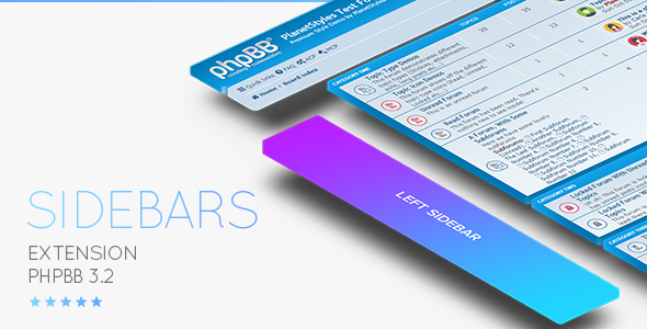 phpBB 3.2 / 3.3 Sidebar Extension - Responsive