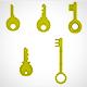 Golden Key set (5) - 3DOcean Item for Sale
