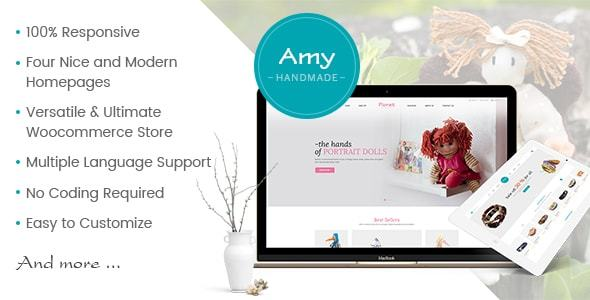 Amy Handmade - Blog and Shop WordPress Theme