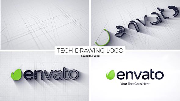 Tech Drawing Logo