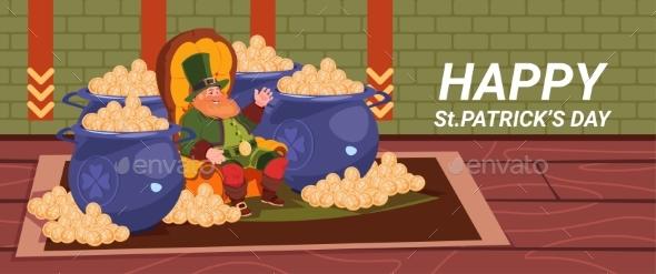 Happy St. Patricks Day Decoration Card