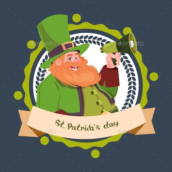 Happy St. Patricks Day Emblem Label