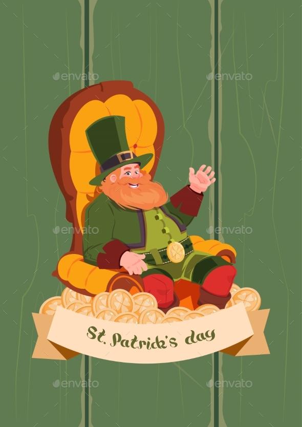 Leprechaun On Happy St. Patricks Day Holiday