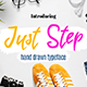 Just Step Typeface - Hand Drawn Font - GraphicRiver Item for Sale