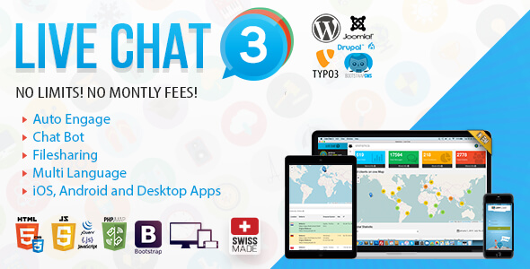 Live Chat PHP Scripts from CodeCanyon