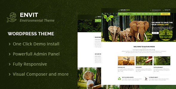 Envit – An Environmental WordPress theme