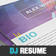 Dj / Musician Press Kit / Resume PSD Template - GraphicRiver Item for Sale