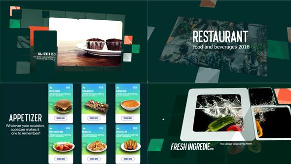 Restaurant Food & Beverages Menu Display