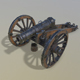 Cannon Unicorn 3d model - 3DOcean Item for Sale