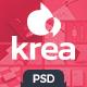 Krea - Modern Portfolio One Page PSD Web Template - ThemeForest Item for Sale
