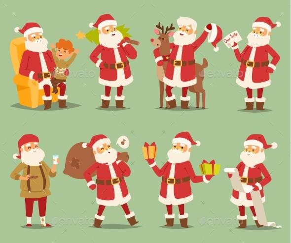 Christmas Santa Claus Vector Character