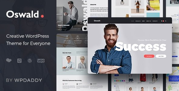 Oswald - Creative Multi-Purpose Responsive WordPress Theme