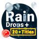 Rain Drops With Titles - VideoHive Item for Sale