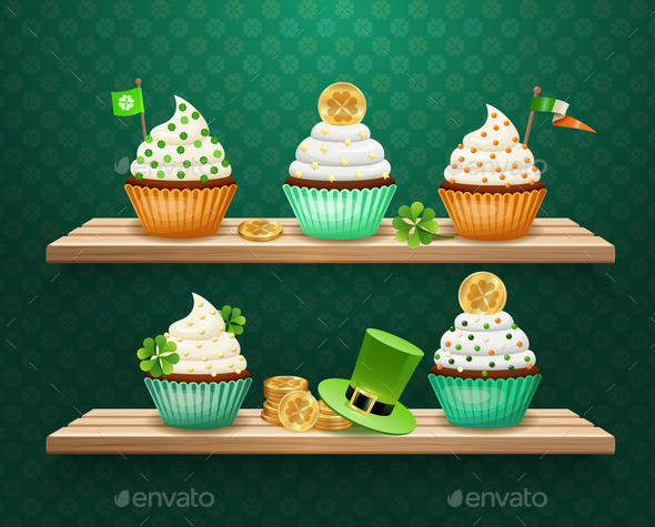 Saint Patricks Day Sweets Composition
