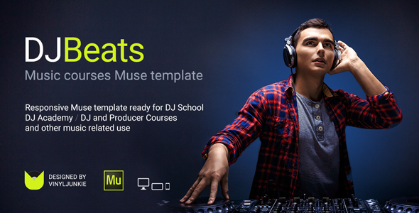 DJBeats - DJ Courses / Scratch School / Music Academy Responsive Muse Template