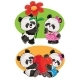 Vector Set with a Couple of Panda Bears in Love - GraphicRiver Item for Sale