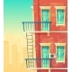 Vector Illustration of House Facade Element - GraphicRiver Item for Sale