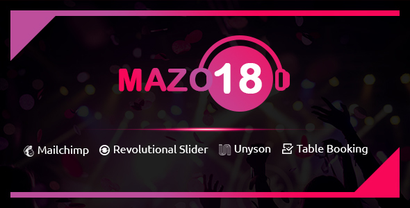 Mazo18 Night Club WordPress Theme