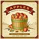 Retro Apple Harvest Label With Landscape - GraphicRiver Item for Sale